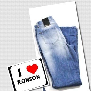 I Love Ronson Jeans - NEW!  I Love Ronson Blue Distressed Flare Jeans 2